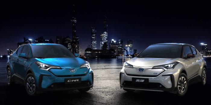 토요타가 내년에 중국에 출시 예정인 SUV형 전기차.