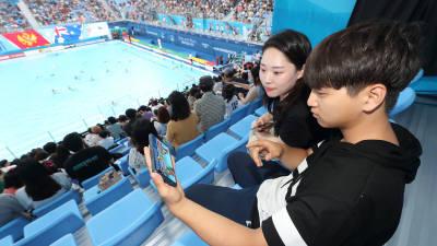 KT, 광주세계수영선수권대회에서 세계에 5G 알려