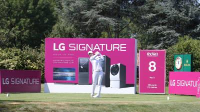 LPGA 에비앙 챔피언십 8번홀은 'LG 시그니처 홀'...LG전자 골프 마케팅