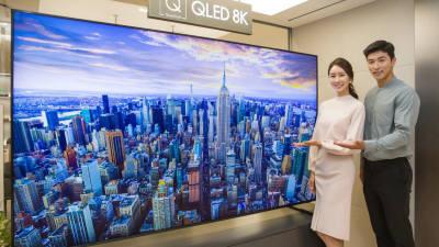 [데이터뉴스]판 커지는 8K TV, 올해 패널 출하량 9배나 급증 전망