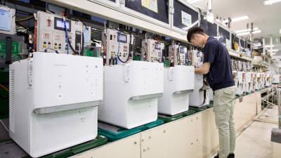 웅진코웨이, 정수기 생산 라인 '총력전'…여름 수요 대응한다