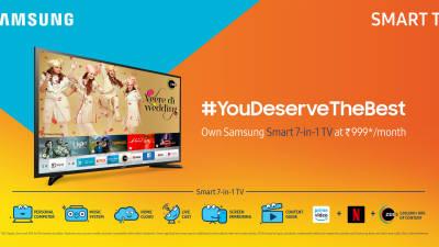 삼성전자, '노트북+TV' 하이브리드 TV로 인도 밀레니얼 세대 공략