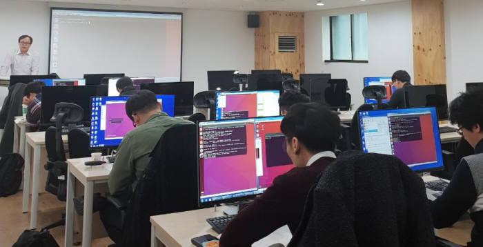 IT기업을 위한 개발자 교육장면