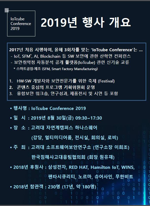 고려대·CONCERT 'IoT큐브 콘퍼런스' 개최