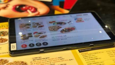[기자의 일상]태블릿 PC 메뉴판 등장
