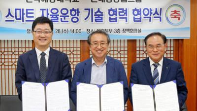 한국해양대·현대중공업그룹, 자율운항선박 기술 협력 협약 체결