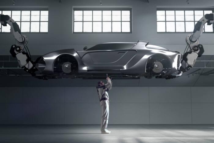 현대기아차가 개발한 웨어러블 로봇 벡스(VEX).