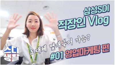 """""""딱딱한 회사 소개는 그만""""…삼성SDI '직장인 브이로그' 화제"""