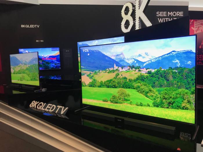 중국 TCL이 선보인 8K QLED TV.