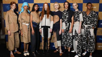 현대차 업사이클링 패션, 美 뉴욕 맨해튼서 데뷔