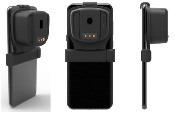 스마트폰을 기반으로 분광이미징 시스템이 적용된 시제품