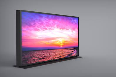 파나소닉이 듀얼 레이어 LCD 기술로 만든 메가콘 디스플레이 시제품