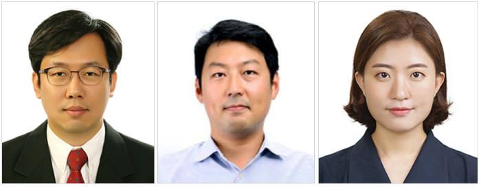 (왼쪽부터) 최용상 교수, 유창현 교수, 황지원 박사과정