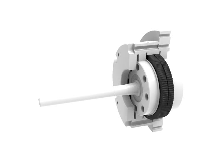 본시스템이 세계 처음으로 개발한 세라믹 소재 기반 로봇팔 정밀제어 감속기.