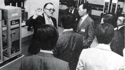 [추억의 ICT산업 사진전]1982년 정주영 회장 IBM 방문