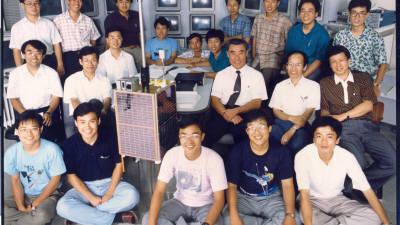 [추억의 ICT산업 사진전]1992년 우리별 1호 개발 주역들