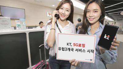 KT, 유럽 3개국에서 5G 로밍 시작