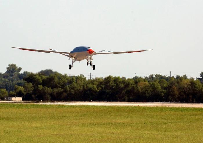 보잉의 공중 급유 드론 MQ-25. <사진=보잉>