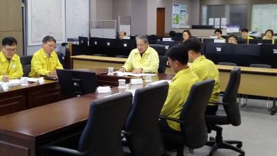 박천규 환경부 차관, 한강홍수통제소 방문해 태풍 상황 점검