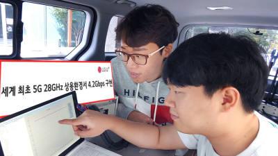 LG유플러스, 상용 환경 28㎓ 속도 검증 성공