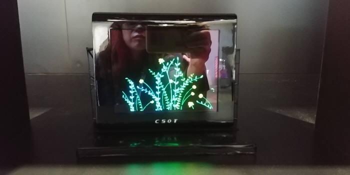 차이나스타가 SID 디스플레이위크 2019에서 공개한 6.6인치 QD-OLED 시제품. (사진=전자신문DB)