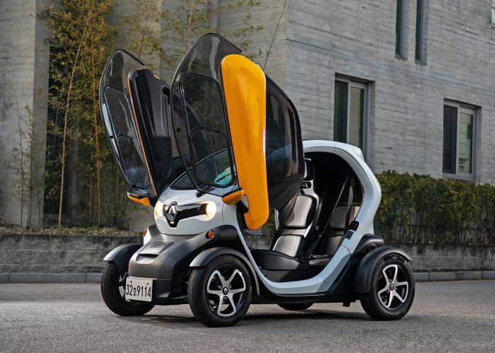 르노삼성자동차가 판매 중인 초소형 전기차 르노 트위지.