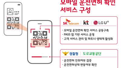통신3사-경찰청, 본인인증 앱(PASS)에 운전면허증 담는다