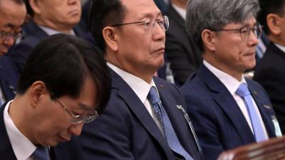 국감 출석한 김종갑 한전 사장