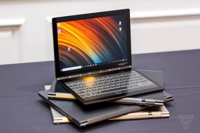 듀얼 디스플레이를 적용한 투인원 노트북 레노버 요가북 C930 [사진=더 버지]