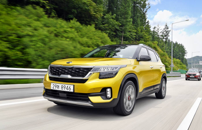 기아자동차는 내년 8월 출시를 목표로 셀토스 전기차 모델을 개발하고 있다.