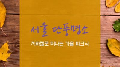 지하철로 떠나는 가을 피크닉 '서울 단풍명소'