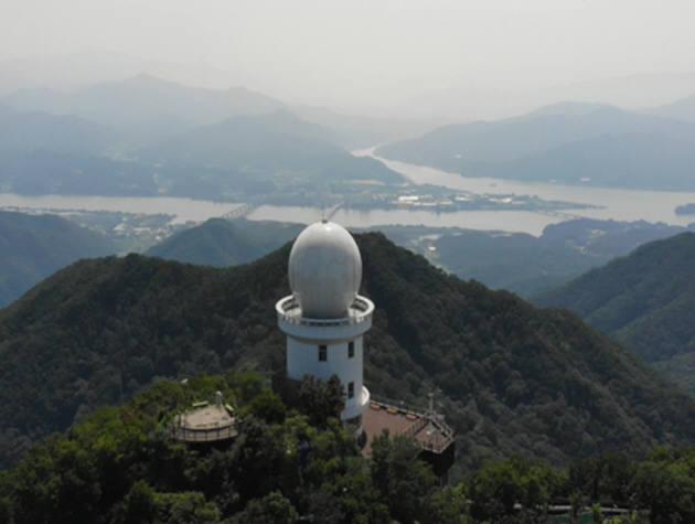 예봉산 강우 레이더. [자료:환경부]