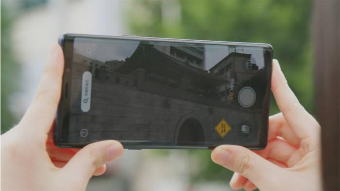 돈의문 증강현실 서비스를 모바일 앱으로 실행한 모습 [사진=문화재청]