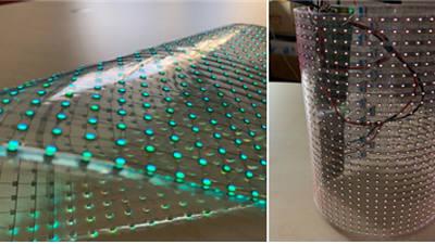 티디엘, 가볍고 휘어지는 LED 투명 전광판 출시