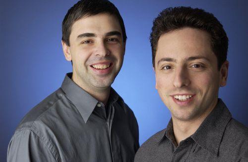 ▲ 구글의 설립자 래리 페이지와 세르게이 브린. 구글은 검색이라는 디지털 필수품을 앞세워 전 세계 검색엔진 시장을 석권했다.