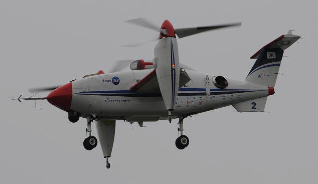 2011년 틸트로터 무인기 시험 비행 모습