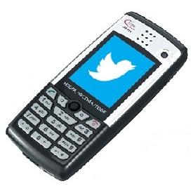 피처폰에서 인터넷 접속 없이 트위터 이용?