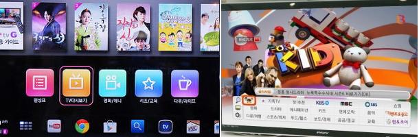 LG U+의 tv G는 영화와 풀HD로, SK브로드밴드 B tv는 키즈 콘텐츠에 차별화를 두면서 KT를 추격하고 있다.