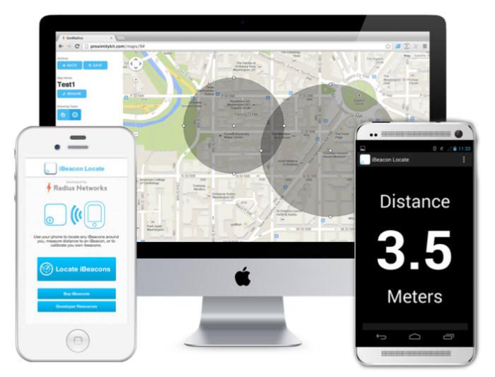 애플의 `아이비콘` 실내위치정보 기술이 적용되는 CES2014 전시장
