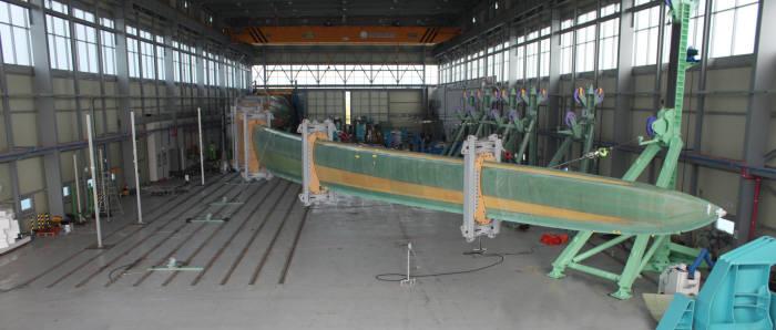 재료연구소 부안풍력시험센터 내부 모습.