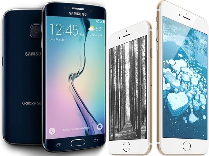주요 5개 스마트폰업체의 단말기 벤치마크테스트결과 배터리 사용시간은 소니 엑스페리아 Z3(9시간29분), 삼성 갤럭시노트4(8시간43분), 갤럭시S6엣지(8시간11분),삼성갤럭시S5(7시간38분),삼성 갤럭시S6(7시간14분) ,애플 아이폰6플러스(6시간32분),HTC 원M9(6시간25분),LG G3(6시간14분),애플 아이폰6(5시간22분) 등의 순으로 나타났다. 엑스페리아는 오래사용하지만 충전시간이 무려 235분이나 걸렸다. 삼성 애플간 주력폰 배터리 사용시간은 삼성의 승리로 나타났다. 사진=삼성,애플