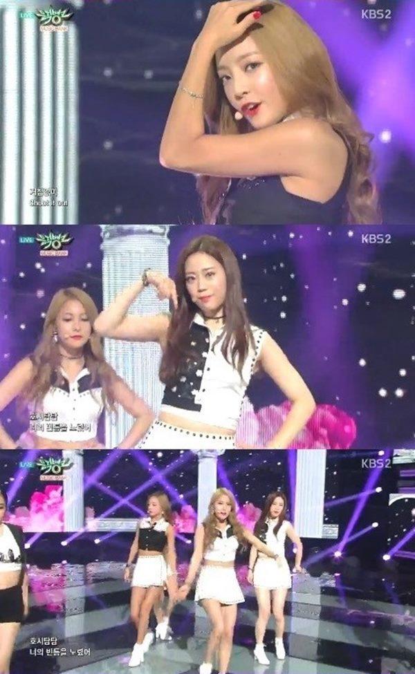 뮤직뱅크 카라<br />출처:/ KBS2 '뮤직뱅크' 캡처