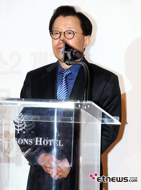 [포토] 인사말하는 한윤희 대표