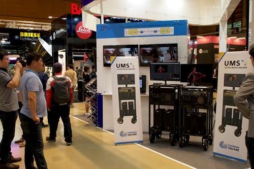 콘텐츠스퀘어, 국내 최초 UHD 방송 전용 DIT장비(UMS) KOBA전시