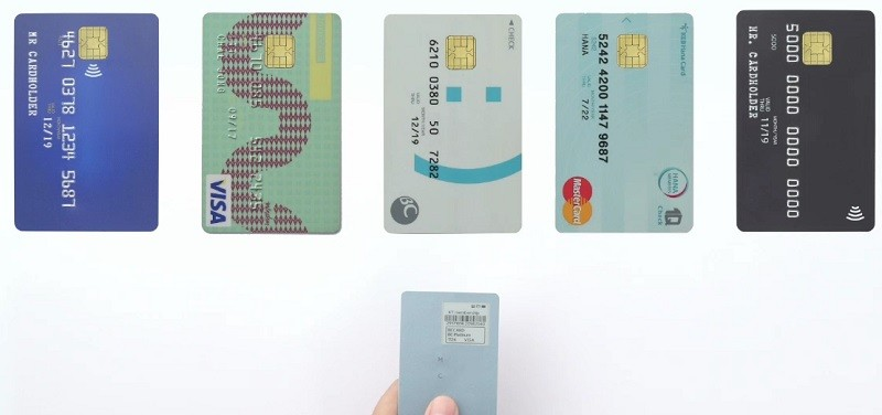 KT클립카드는 통신사나 특정기기에 제한되지 않고 카드사 제휴를 통해 다양한 카드를 등록할 수 있다.