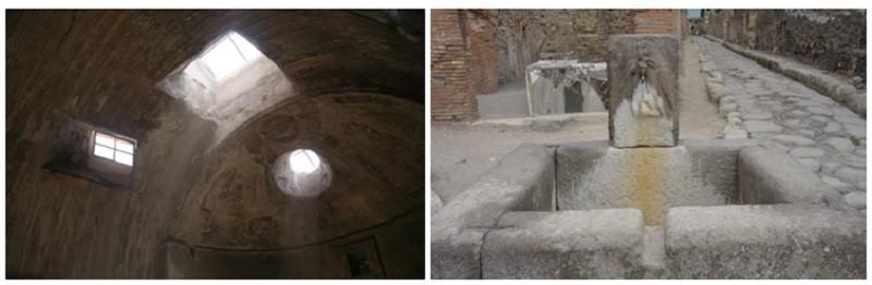 약 2000년전 폼페이의 상수도시설(목욕탕과 공중수도)