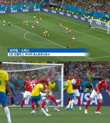 사진=브라질이 스위스와 1대1 무승부를 기록했다.