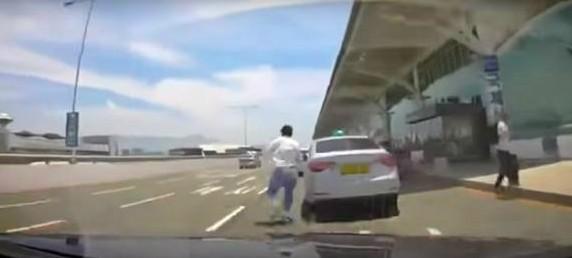 김해공항 택시 사고, 에어부산 직원이 운전..'동승자 2명은 어디에?'