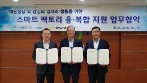 SBA-신보-카카오인베스트먼트, '스마트팩토리 융·복합 지원' 업무협약 체결
