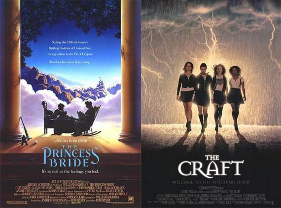 사진 = '더 프린세스 브라이드' 포스터, '더 크래프트' 포스터 (출처: 네이버 영화 )
